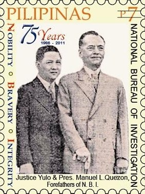 Manuel Quezon and José Yulo 2011 stamp of the Philippines