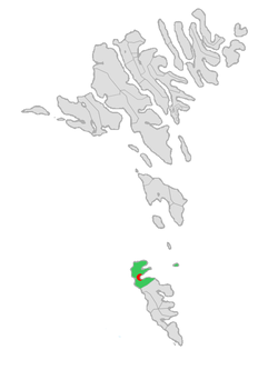 Location of Hvalbiar kommuna in the Faroe Islands