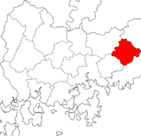 Location of Yangsan