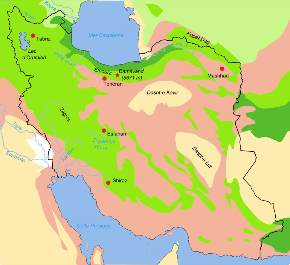 Map iran biotopes simplified-fr