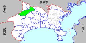 Tsukui, Kanagawa - Image: Map kanagawa tsukui town p 01 01