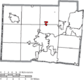 Map of Butler County Ohio Highlighting Seven Mile Village.png