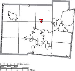 Location of Seven Mile in Butler County