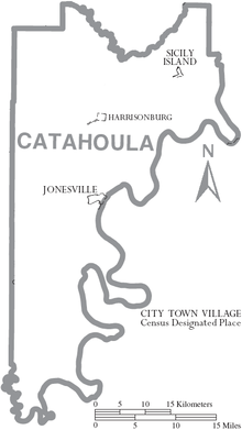 Map of Catahoula Parish Louisiana With Municipal Labels.PNG
