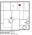 Map of Crawford County Ohio Highlighting New Washington Village.png