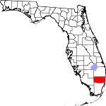 A state map highlighting Broward County in southern part of the state. It is medium in size and shaped like a rectangle.