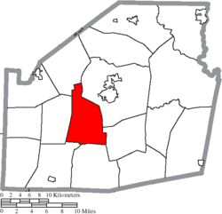 Location of New Market Township in Highland County