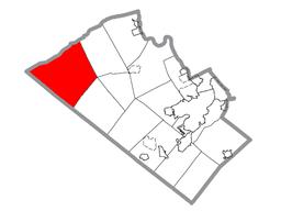 Location of Lynn Township in Lehigh County