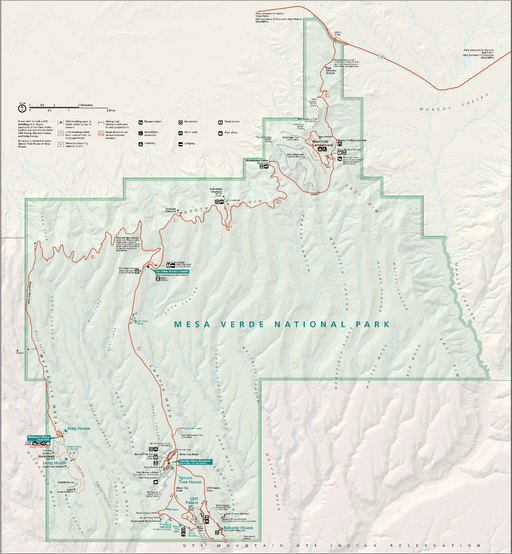 Map of Mesa Verde National Park