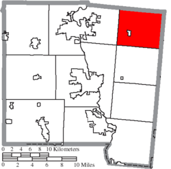 Location of Brown Township in Miami County