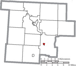 Location of Stockport in Morgan County