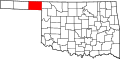 Map of Oklahoma highlighting Beaver County.svg