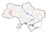 Oblast di Ternopil - Mappa di localizzazione