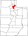State map highlighting Morgan County