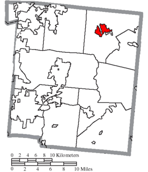 Waynesville, Ohio - Location of Waynesville in Warren County