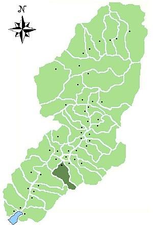 Esine - Location of Esine in Val Camonica
