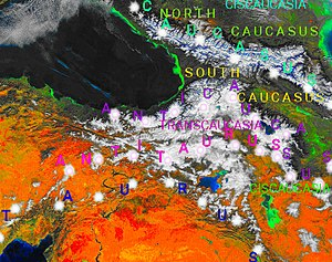 Map of the Armenian highland and Caucasus mountains 12 12284.jpg