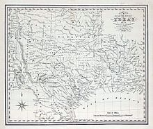 Republic Of Texas Wikipedia - Map Of The Us States Labeled