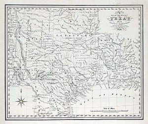 Republic of Texas - Map of the Republic of Texas and the Adjacent Territories by C.F. Cheffins, 1841