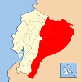 Mapa de Región Amazónica