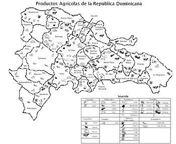 Mapa Agricola Republica Dominicana