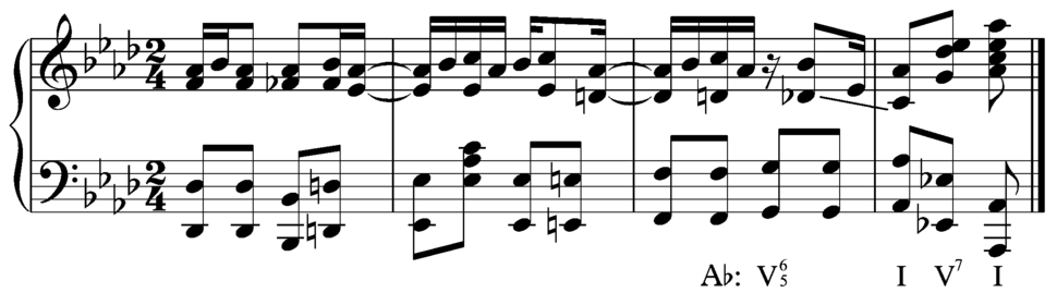 Maple Leaf Rag seventh chord resolution