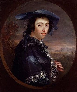 Peg Woffington - Margaret Woffington, by John Lewis, 1753
