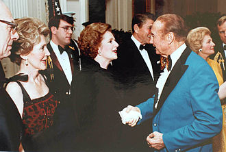 Margaret Thatcher and Thurmond at a state dinner in 1981 Margaret Thatcher Strom Thurmond 1981.jpg