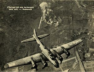 Malbork - 94th Bomb Group B-17 Flying Fortress targeting the Focke-Wulf factory as described.