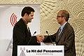 Martín Aranburu entrega el premi Ramon Trias Fargas d'assaig polític a Marçal Sintes a la Nit del Pensament de la Fundació CatDem (foto- Marta Pérez)..jpg