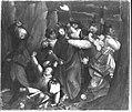Martin Schaffner - Erster Wettenhauser Altar, Gefangennahme Christi Rückseite, Christus vor Pilatus - 1410 - Bavarian State Painting Collections.jpg