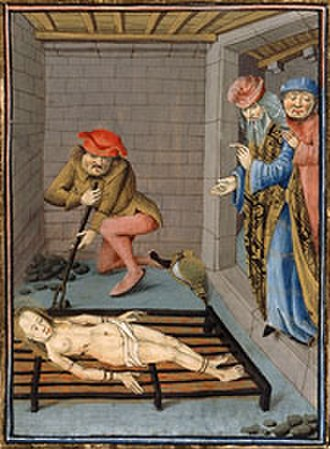Saint Faith - Medieval depiction of Faith's martyrdom.