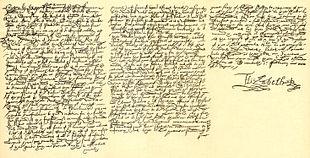 La condanna a morte di Maria, firmata da Elisabetta.