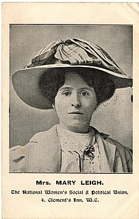 Mary Leigh English political activist and suffragette