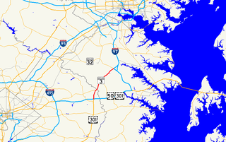 Maryland Route 3 State highway in Maryland, US