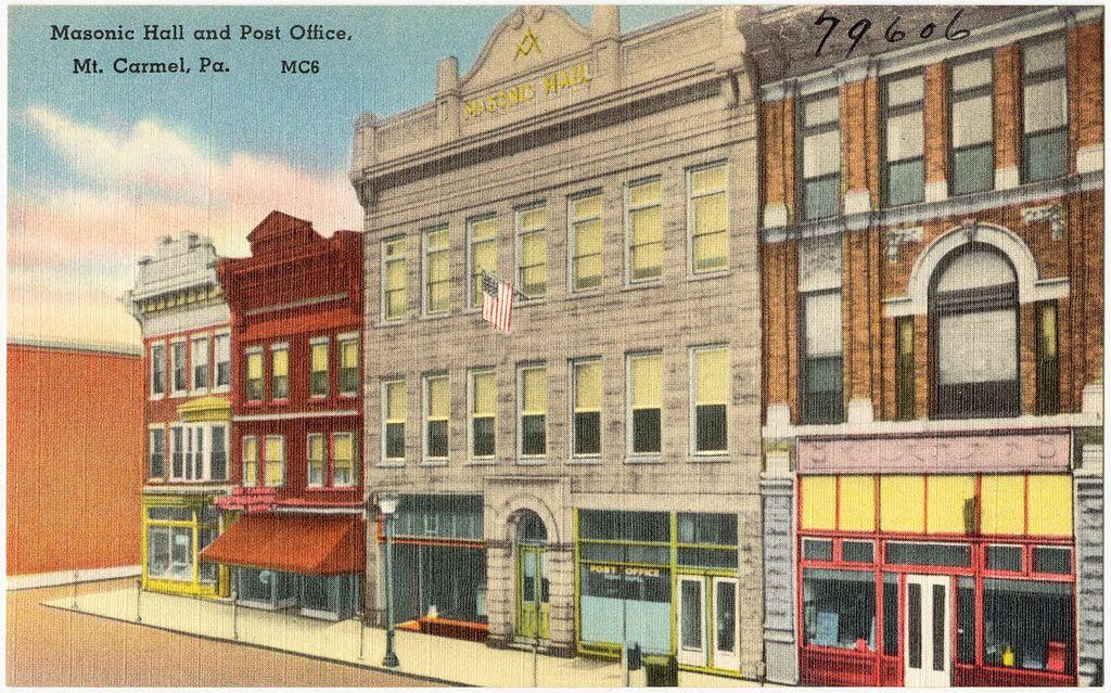 file masonic hall and post office  mt  carmel  pa  79606
