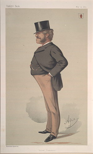 "Massey Lopes - ""Local Taxation"". Caricature by Ape published in Vanity Fair in 1875"