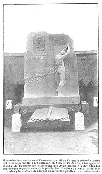 Mausoleo de Alfredo Calderón, de Gómez Durán, en Nuevo Mundo, 04-03-1909.jpg