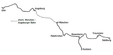 Bahnstrecke Rosenheimsalzburg Wikipedia
