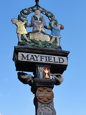 Mayfield and Five Ashes - Village sign.