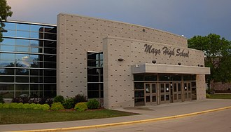 Mayo High School - Mayo High School main entrance