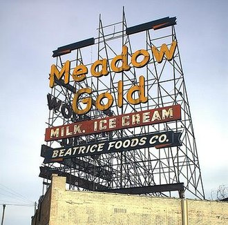 Tulsa, Oklahoma - The Meadow Gold sign has greeted Route 66 travelers in Tulsa for decades.