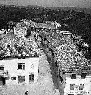 Medana Village in Slovenian Littoral, Slovenia