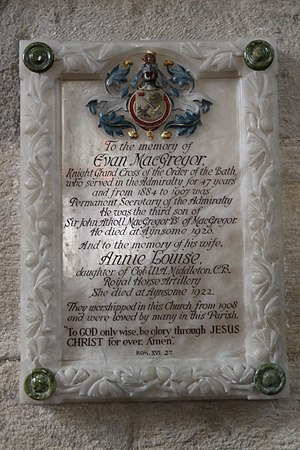 Evan MacGregor - Memorial in Cartmel Priory