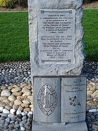 William Carrigan - Memorial to Rev William Carrigan near Ballyfoyle, County Kilkenny
