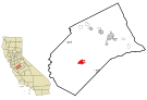 Merced County California Incorporated and Unincorporated areas Los Banos Highlighted.svg
