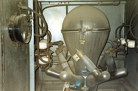 Glass-bulb mercury-arc rectifier from the 1940s Mercury Arc Rectifier.jpg