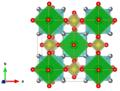 Meta-autunite - Makarov E S, Ivanov V I Doklady Akademii Nauk SSSR 132 (1960) 601-603 The crystal structure of meta-autunite, Ca(UO2)2(PO4)2x6H2O c-axis.png