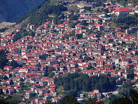 Panorama of Metsovo.
