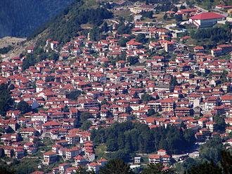 Metsovo - Panorama of Metsovo.